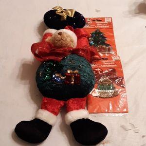 Holiday Bear door knob decoration and ornaments